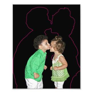 e-kissing photographic print