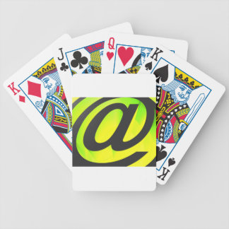 E-mail icon bicycle playing cards