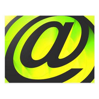 E-mail icon postcard