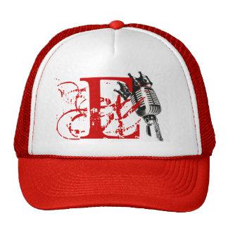 E-MAN MIC KING LID RED TRUCKER HAT