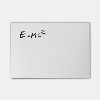 E=MC2 E equals MC squared Post-it Notes