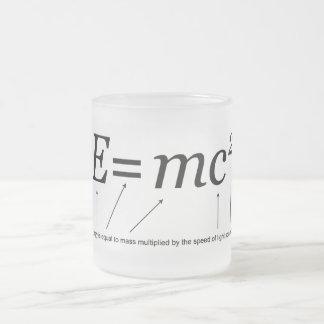 E=MC2 Einstein's Theory of Relativity Frosted Glass Coffee Mug