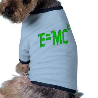 E=MC2 (green) Dog Clothing