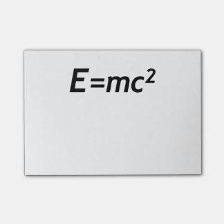 E=mc2 Mass Energy Equivalence Light Speed Physics Post-it Notes