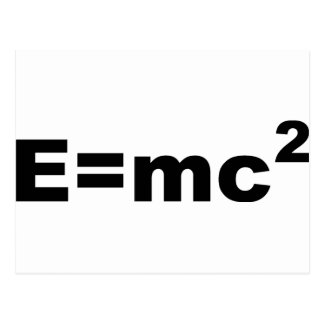 E =MC 2 POSTCARD