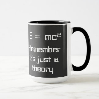 E=mc². Einstein's theory of relativity on a mug! Mug