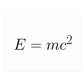E = mc² postcard