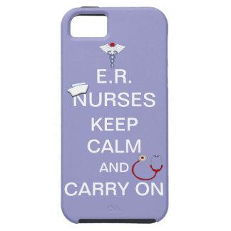 E.R. Nurses Keep Calm+Stethoscope and Cap/Purple iPhone 5 Cases