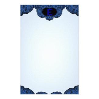E - The Falck Alphabet (Blue) Personalized Stationery
