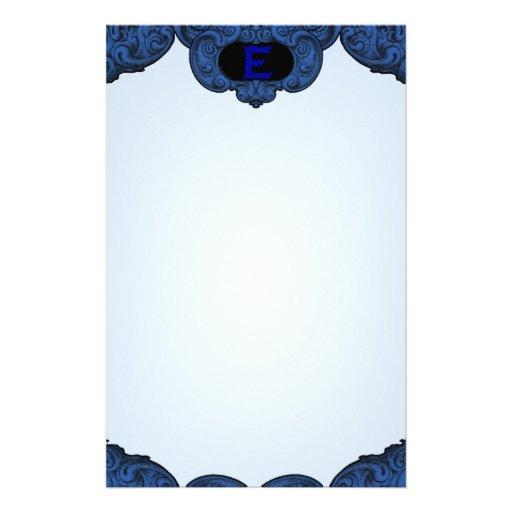 E - The Falck Alphabet (Blue) Stationery Design