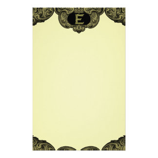 E - The Falck Alphabet (Gold) Personalised Stationery