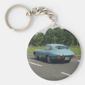 E-Type Jag Coupe Basic Round Button Key Ring