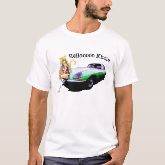 E-type Jag with hot cat girl T-Shirt