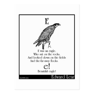 E was an eagle postcard