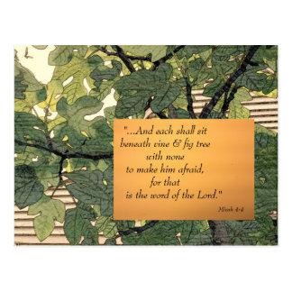 Each Beneath Vine & Fig Tree Postcard