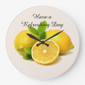 Each Day should be enjoyed.  Look at life as a gif Large Clock