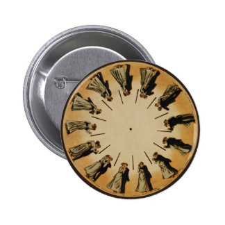 Eadweard Muybridge Phenakistoscope 6 Cm Round Badge