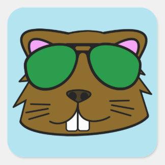 Eager Beaver Square Sticker