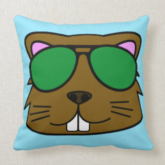 Eager Beaver Throw Pillow