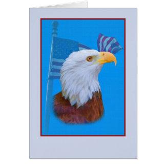 Eagle and American Flag Card