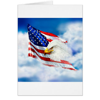 Eagle and American Flag Greeting Card