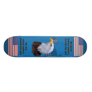 Eagle and American Flag Skateboard