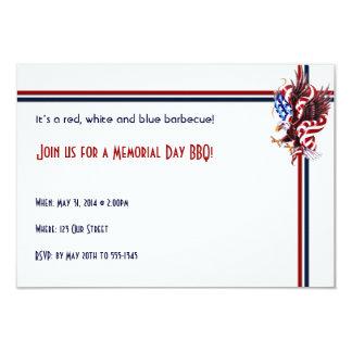 Eagle and American Flag Tatoo Illustration Style Card