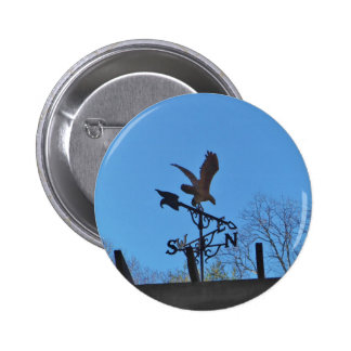 Eagle and Arrow Weather vane blue skys Button