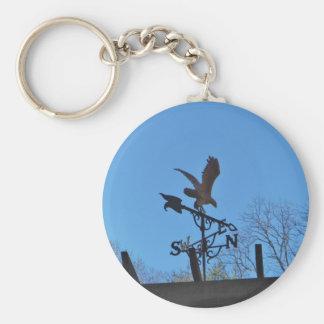 Eagle and Arrow Weather vane blue skys Key Chain
