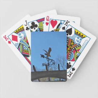 Eagle and Arrow Weather vane blue skys Playing Cards