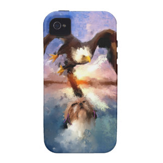 eagle and dog Case-Mate iPhone 4 covers