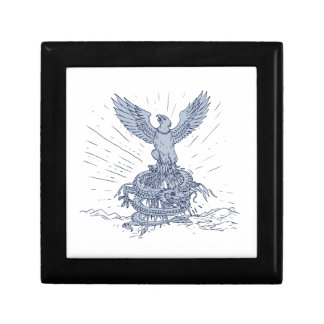 Eagle and Dragon Mountains Drawing Gift Box
