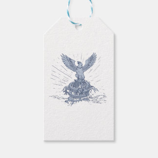 Eagle and Dragon Mountains Drawing Gift Tags