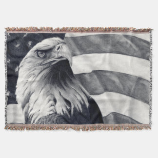 Eagle and Flag Blanket