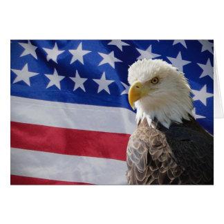 Eagle and Flag Card
