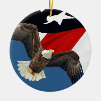 Eagle and Flag Ceramic Ornament