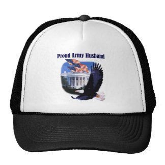 Eagle and Flags Proud Army Husband Cap