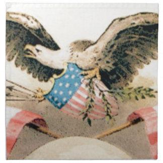 eagle and flags seal napkin