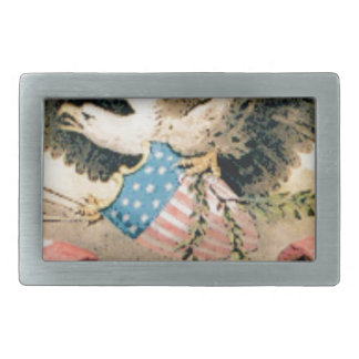 eagle and flags seal rectangular belt buckles