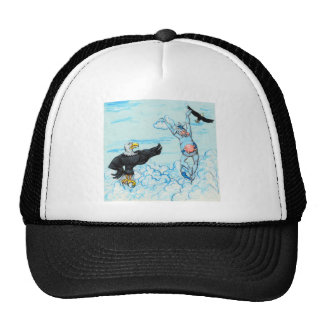Eagle and Leaping Cow Trucker Hat