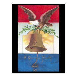Eagle and Liberty Bell Fourth of July Postcard