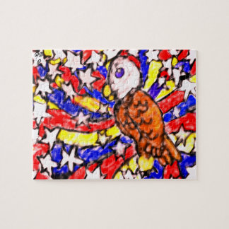 eagle and star jigsaw puzzle