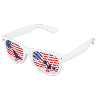 Eagle and the American Flag Retro Sunglasses