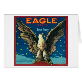Eagle Apple Crate Label Greeting Card