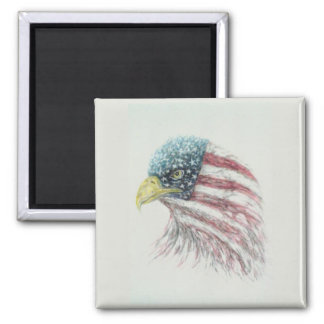 eagle,bald eagle,eagle with american flag magnet