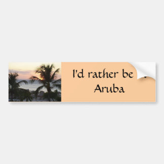 Eagle Beach Aruba Sunset Bumper Sticker