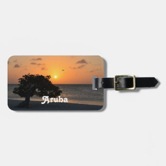 Eagle Beach Sunset Luggage Tag