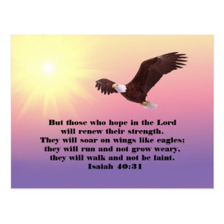 Eagle Bible Verse Hope and Strength Postcard