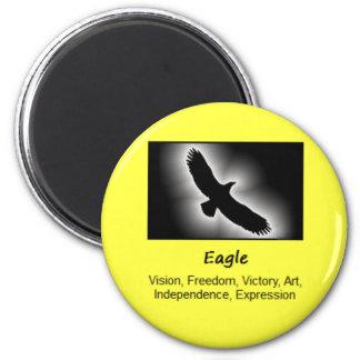 Eagle Bird Totem Animal Spirit Meaning 6 Cm Round Magnet