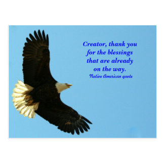 Eagle blessing postcard